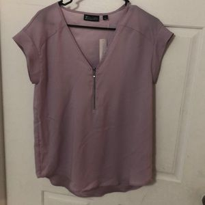 NY&C lavender zip front top Sz Small
